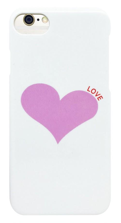 ハート 「LOVE」・ ピンク つや有り ハード ケース