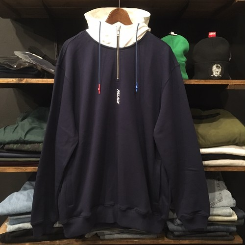 【palace skateboards】-パレススケートボード-TWILL 1/4 HOODIE NAVY