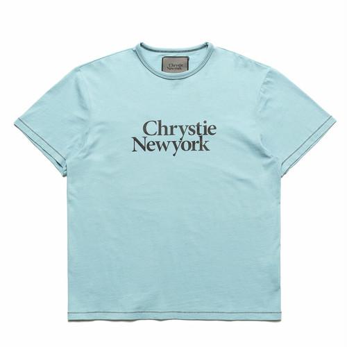 CHRYSTIE NYC(クリスティー ニューヨーク) / BIG CLASSIC LOGO T-SHIRT -LT BLUE-