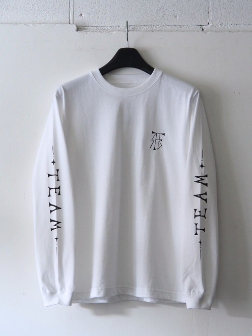 FUJITOSKATEBOARDING Long Sleeve T-Shirt(TEAM ver.) White