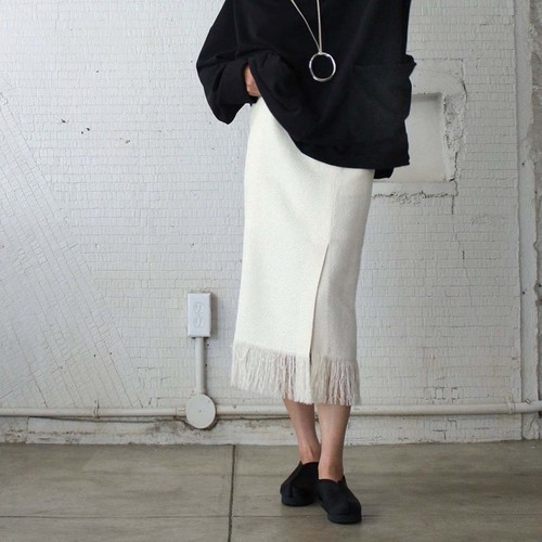【pelleq】PAPER COTTON SKIRT