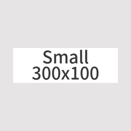 【Smallバナー】300x100px ○○チーム