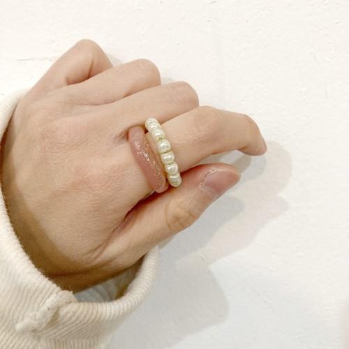 【ambleuki】樹脂ring(モモ)約14-15号
