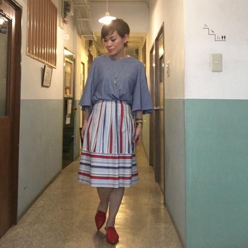 ☆セールで半額!!日本製ストライプスカート(Sサイズ)