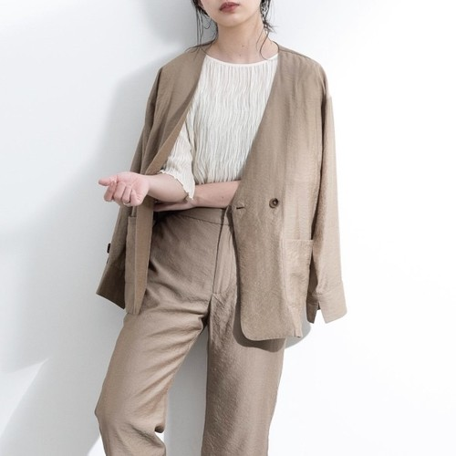 【yukichi.】arm suspender jacket/BEG