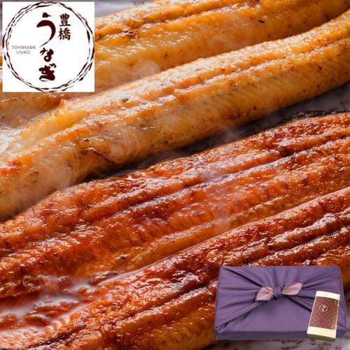 【贈り物用】豊橋うなぎ蒲焼き白焼き(紅白)155-167g×各1尾 ボトルたれ・山椒付