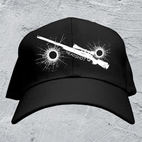 HEAD SHOT-SR*ストリート風キャップ/ブラック