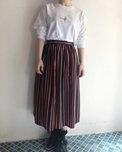 """""""evelyn de jonge"""" vintage stripe skirt"""