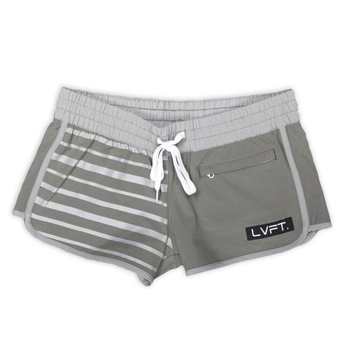 LIVE FIT Pipeline Women's Boardshorts/Running Shorts - Grey WS300