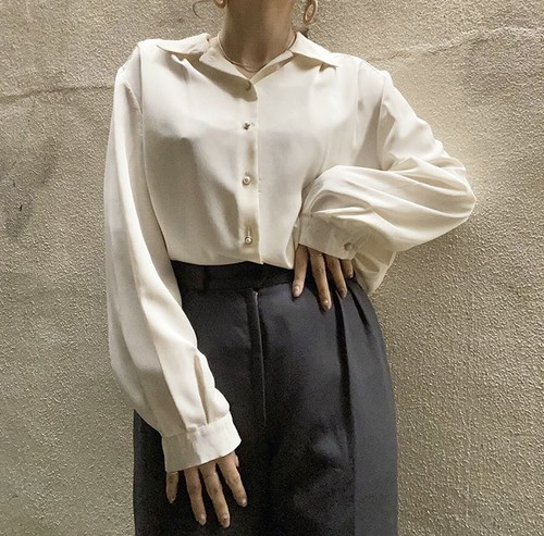 perl button blouse
