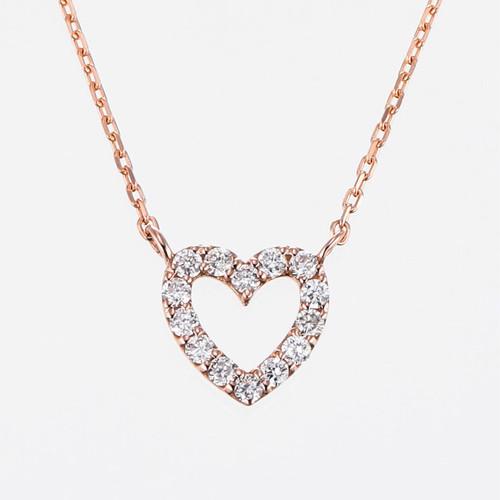 Sweet heart K18PG Diamond  Pendant Necklace  (ダイヤモンド ペンダントネックレス)