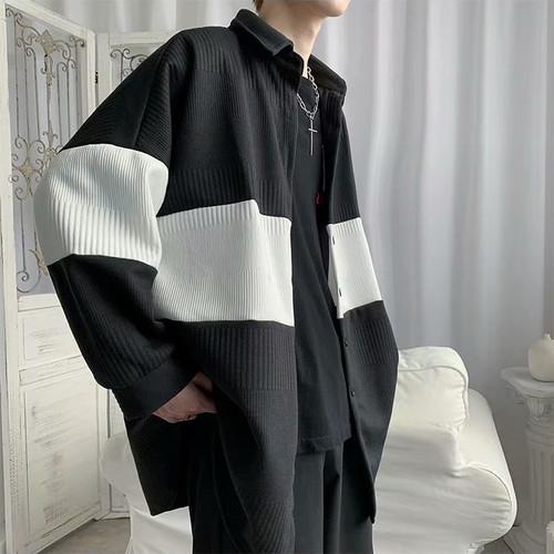 ニットシャツカーディガン BL7002