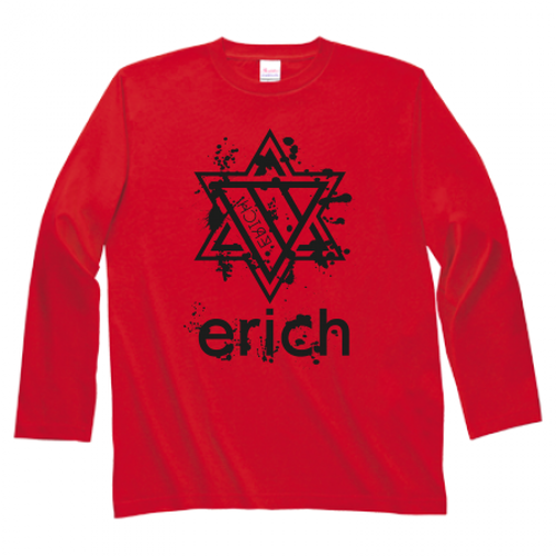 ERICH / HEXAGRAM LONG SLEEVE T-SHIRT RED
