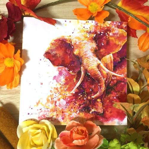 絵画 インテリア アートパネル 雑貨 壁掛け 置物 おしゃれ 水彩画 ゾウ 動物 ロココロ 画家 : 平田幸大 作品 : 強い足跡