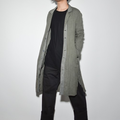 "Leather×Cotton ""Coat""- Dry Mint"