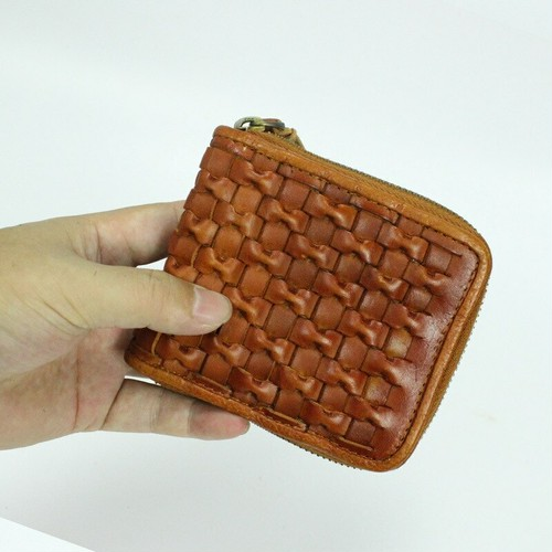 Wallet Leather Vintage Purse Wallet レザー 天然 ビンテージ 財布 パスケース (YYB0-7402664)