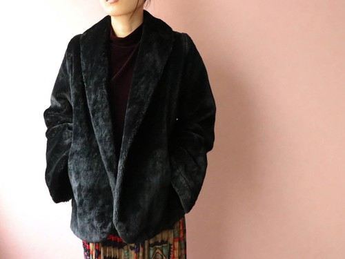 50's eco fur jacket