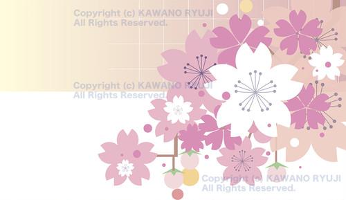 和風の桜の背景_aiデータ(ベクター画像)