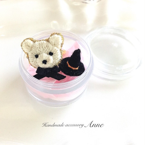 Bear face ring(floralwhite)