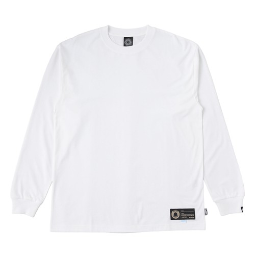 EXAMPLE COOL MAX FABRIC TAG L/S TEE / WHITE x BLACK