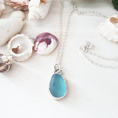 【silver925】seaglass necklace