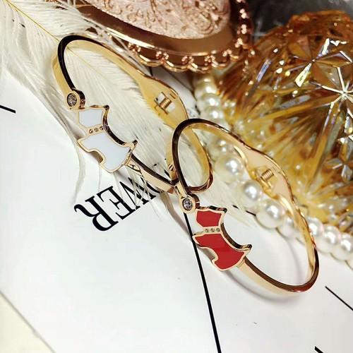 ブレスレット 女性 お洒落 2色 スターリングシルバー 綺麗 可愛い 犬ちゃん キュービックジルコニア エレガンス キラキラ