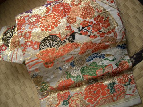 西陣織袋帯 金襴緞子