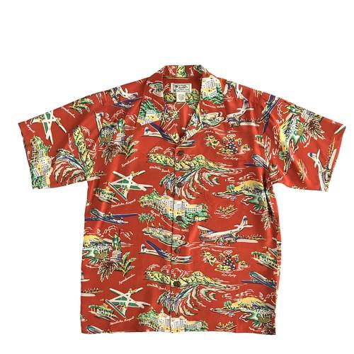 AVANTI SILK オープンアロハシャツ  /  Sightseeing