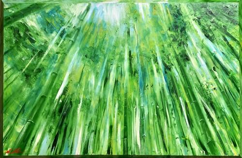 『風の音』油絵