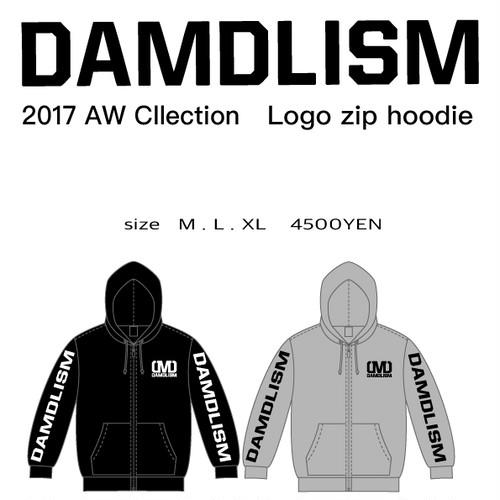 DAMDLISM logo zip hoodie