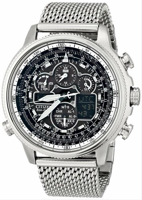 [シチズン]Citizen 腕時計 Navihawk AT Analog Display Japanese Quartz Silver Watch JY8030-83E メンズ