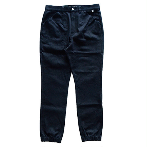 P01(PLAY DESIGN) / PLAY RIB PANTS DST/ BLACK