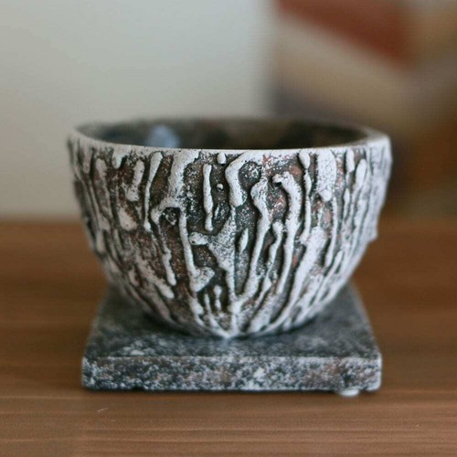 PTMD Pons dripped cement pot 鉢