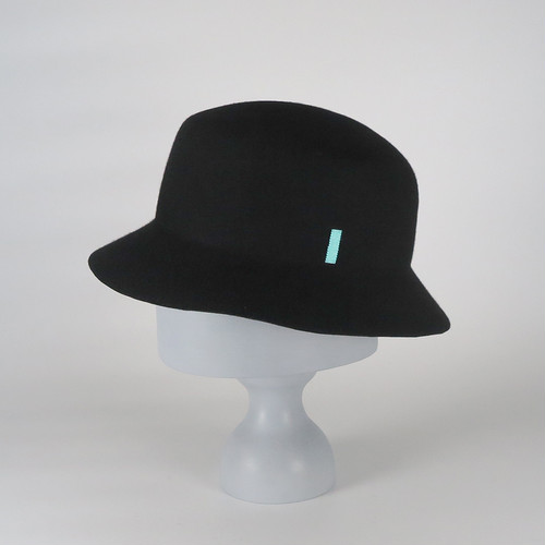 AW20-BD-4 Wool Felt Bucket Hat - BLK