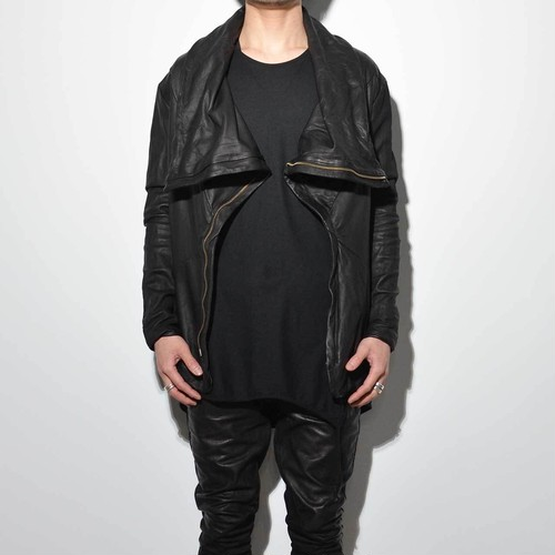 """ERIMAKI"" All Leather Jacket (BLACK)"