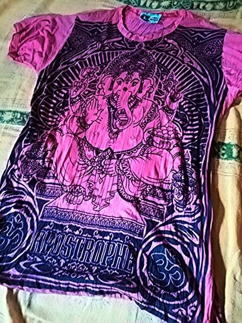 商品番号t-01神様Tシャツ【ガネーシャ】タイ製(Size:L)