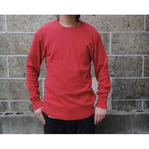 gicipi (ジチピ) COTONE SOFT CREW NECK LS レッド