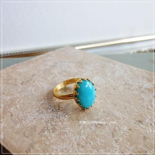 天然石の指輪◆アマゾナイト◆クラウンシリーズ