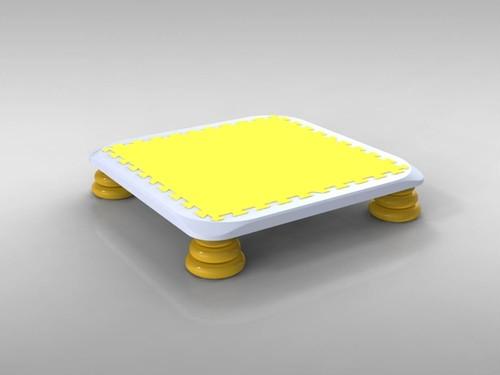 9月25日発送:バンバンボード(黄色)子供用やわらかスプリング 安全 で 音が響きにくい 人気 の 室内・家庭用 の おすすめトランポリン Yellow-S