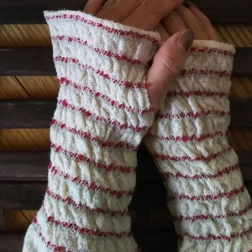 カシミヤ手織りアームウォーマー  N31