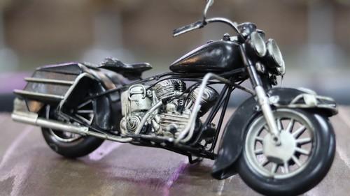 ブリキ製 オールド バイク ハーレー ブラック アメリカン雑貨 世田谷ベース インテリア アメリカ 雑貨 ブリキ インテリア オブジェ ビンテージ バイク グッズ