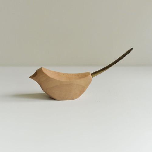 鳥ヶ丘製作所 小鳥のペーパーナイフ(カエデ×真鍮) 商品番号:trk2