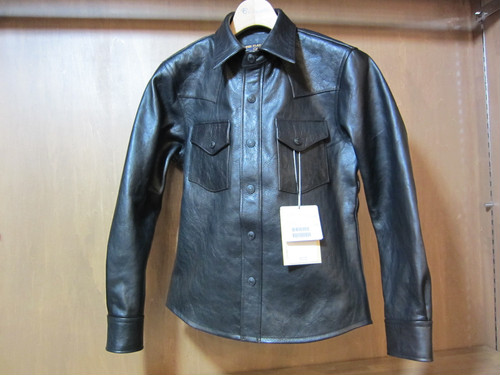 HORSE HIDE SHIRT JACKET F-HLS001