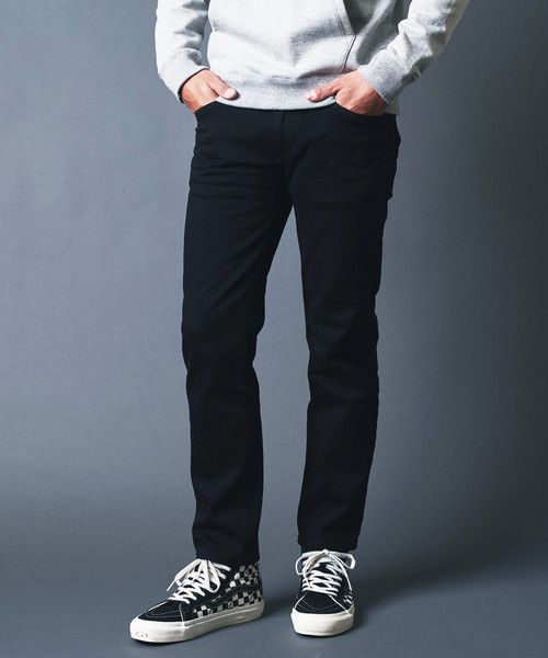 WASHED STRETCH CROPPED 5POCKET PANTS