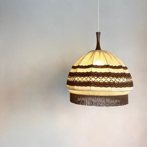 Vintage Fringe Pendant Lamp 70's オランダ