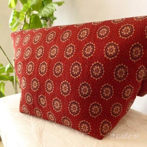 和裁士さんが考えたバッグインバッグ 深紅に丸紋