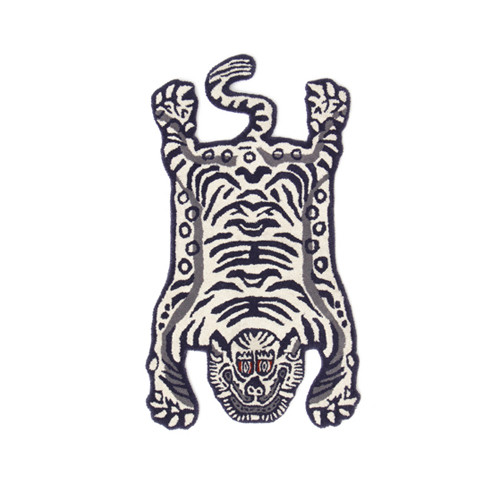 """チベタン Tibetan Tiger Rug """"White / Small"""""""