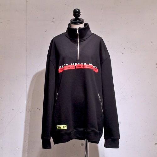 "FUSION / ""EMW"" Zip Sweatshirt / Black"