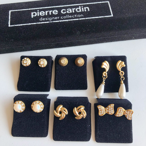"""Pierre Cardin"" pierce set box[p-726] ヴィンテージピアス"