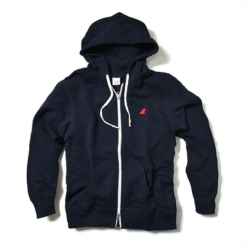 ZIP UP PARKA / RED FIN / DEEP NAVY